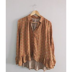 Desert Clay New Free People Blouse